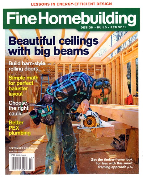 Fine Homebuilding Cover - 9/1/2016