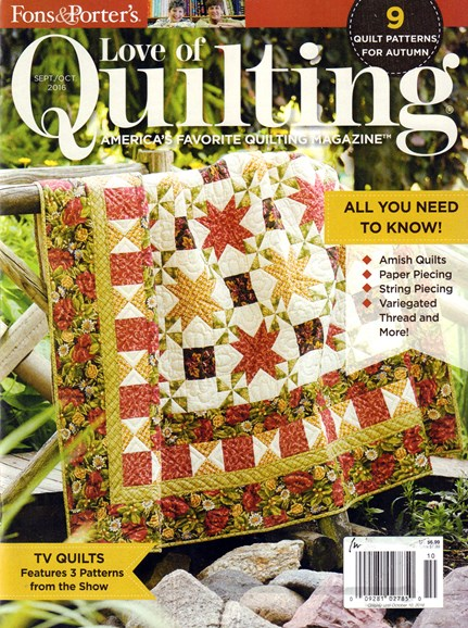 Fons & Porter's Love of Quilting Cover - 9/1/2016