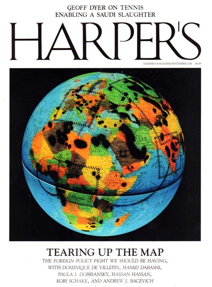 Harper's Cover - 9/1/2016