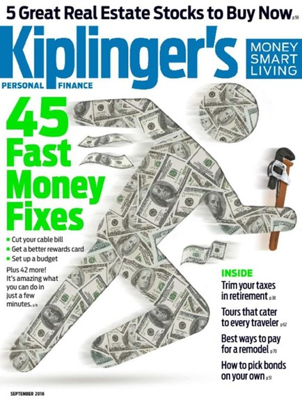 Kiplinger's Personal Finance Cover - 9/1/2016