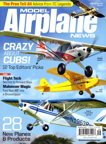 Model Airplane News Cover - 9/1/2016