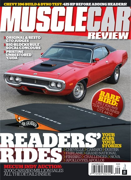 Muscle Car Review Cover - 9/1/2016