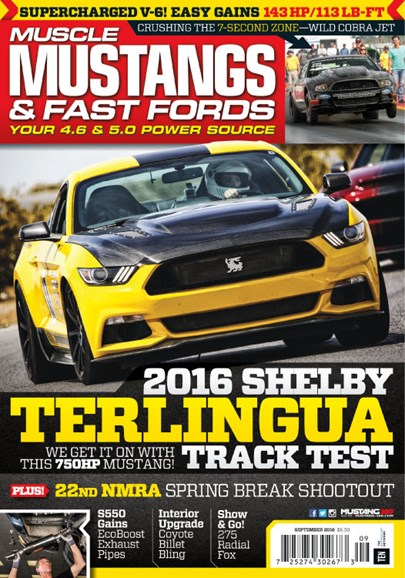 Muscle Mustangs & Fast Fords Cover - 9/1/2016
