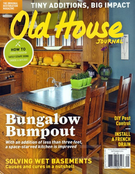 Old House Journal Cover - 9/1/2016