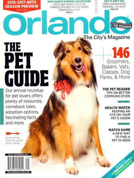 Orlando Magazine Cover - 9/1/2016