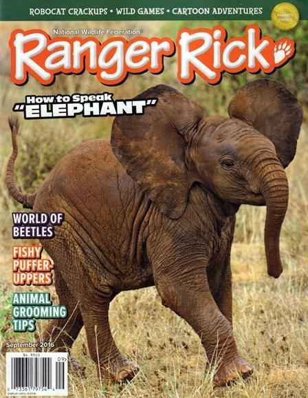 Ranger Rick Cover - 9/1/2016