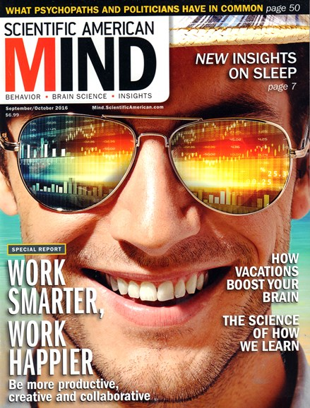 Scientific American Mind Cover - 9/1/2016