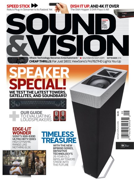 Sound & Vision Cover - 9/1/2016