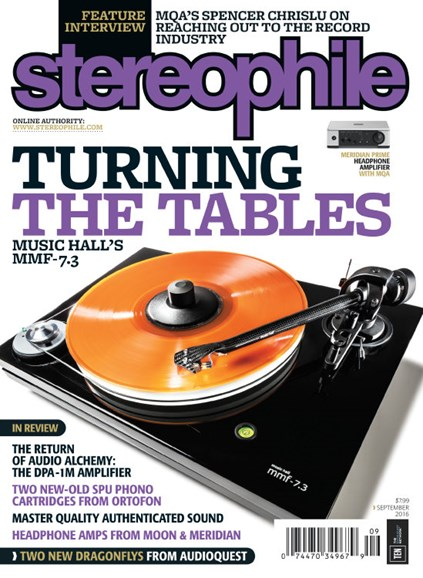 Stereophile Cover - 9/1/2016