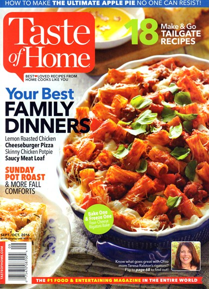 Taste of Home Cover - 9/1/2016