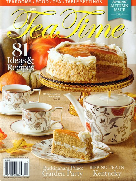 Tea Time Cover - 9/1/2016