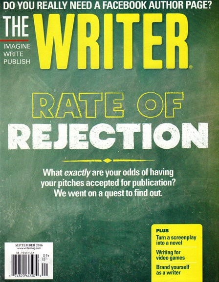 The Writer Cover - 9/1/2016