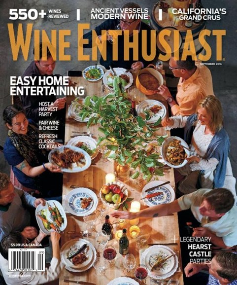 Wine Enthusiast Cover - 9/1/2016
