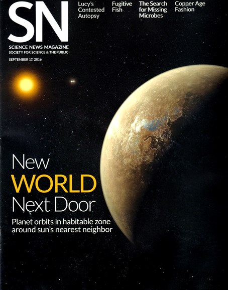 Science News Cover - 9/17/2016