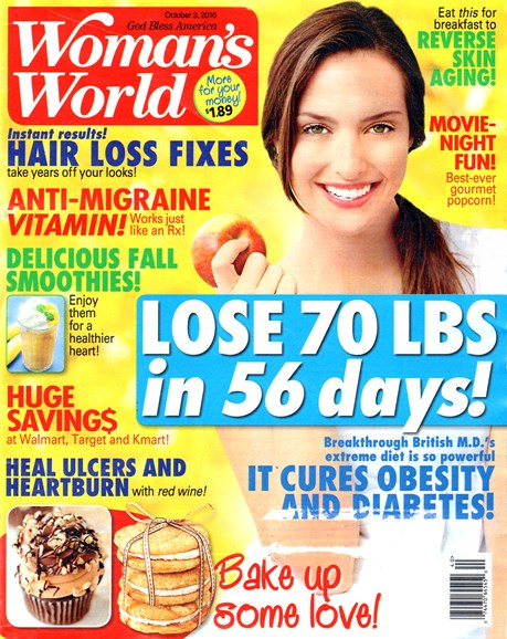 Woman's World Cover - 10/3/2016