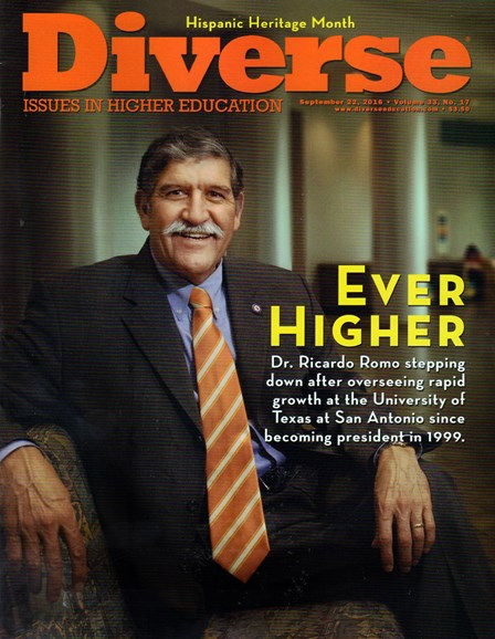 Diverse: Issues In Higher Education Cover - 9/22/2016