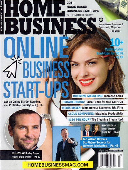 Home Business Magazine Cover - 9/1/2016