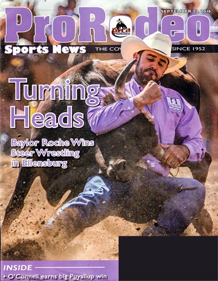 Pro Rodeo Sports News Cover - 9/23/2016