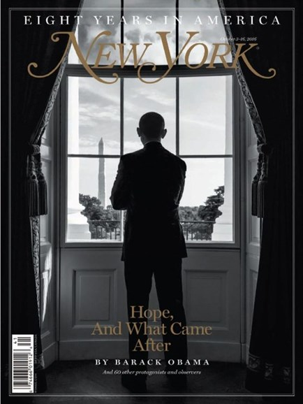 New York Magazine Cover - 10/3/2016
