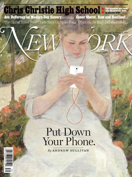 New York Magazine Cover - 9/19/2016