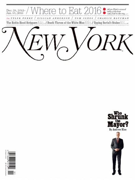 New York Magazine Cover - 12/28/2015