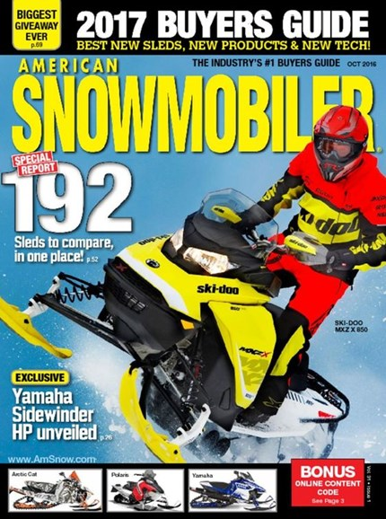 American Snowmobiler Cover - 10/1/2016