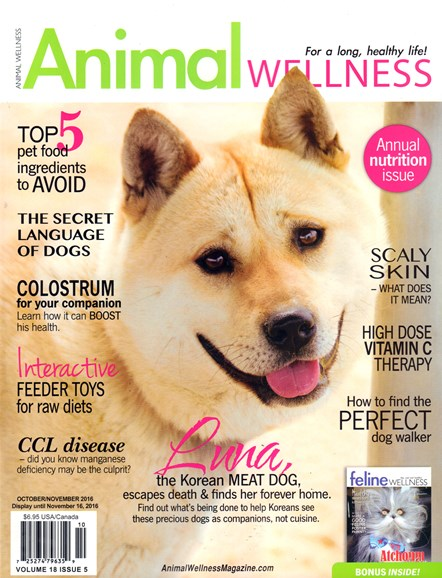 Animal Wellness Cover - 10/1/2016