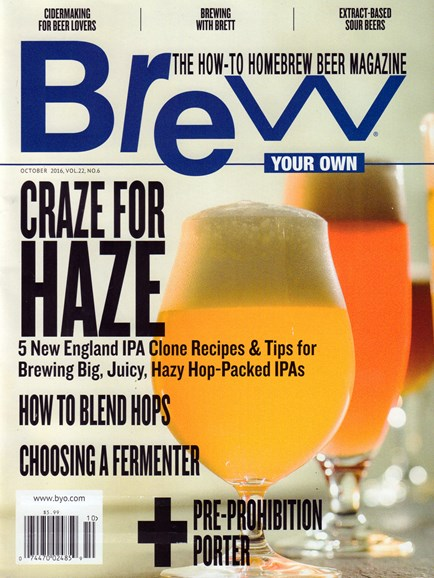 Brew Your Own Cover - 10/1/2016