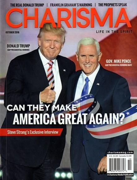 Charisma Cover - 10/1/2016
