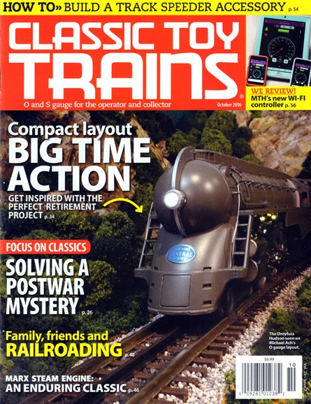 Classic Toy Trains Cover - 10/1/2016
