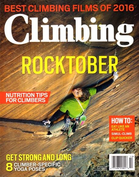 Climbing Magazine Cover - 10/1/2016
