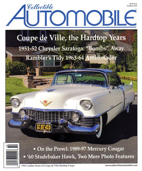 Collectible Automobile Cover - 10/1/2016