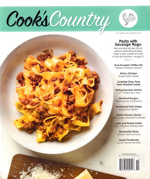 Cook's Country Cover - 10/1/2016