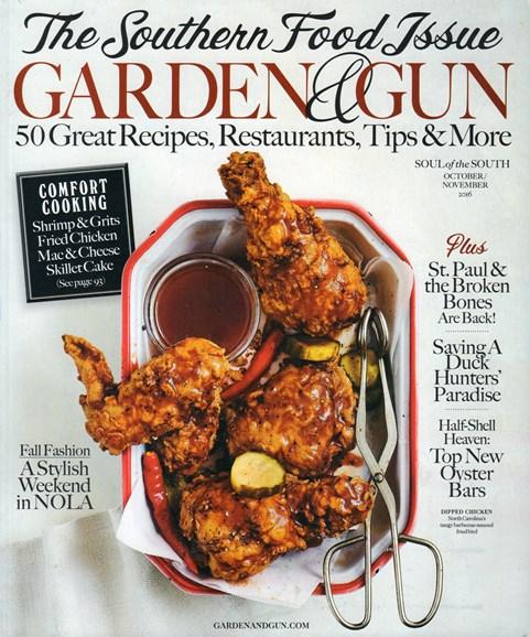 Garden & Gun Cover - 10/1/2016