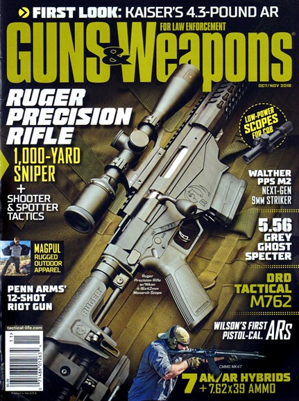 Guns & Weapons For Law Enforcement Cover - 10/1/2016