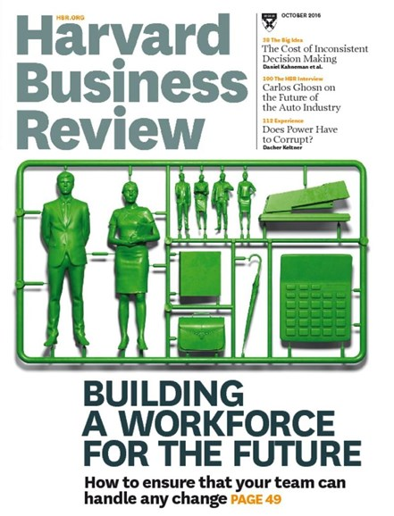 Harvard Business Review Cover - 10/1/2016