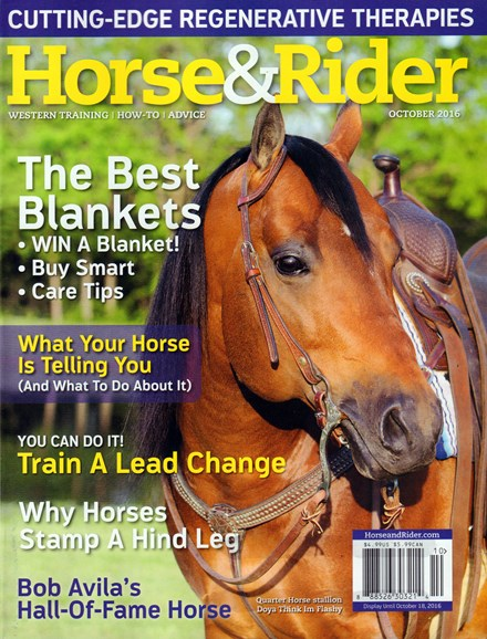 Horse & Rider Cover - 10/1/2016
