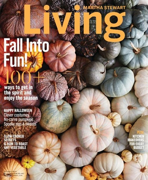Martha Stewart Living Cover - 10/1/2016