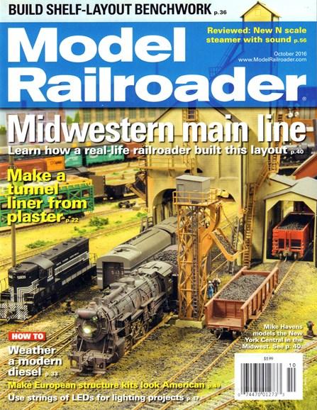 Model Railroader Cover - 10/1/2016
