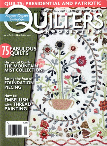Quilter's Newsletter Cover - 10/1/2016