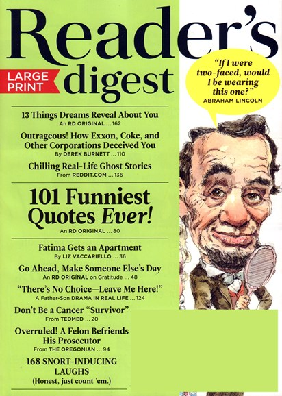 Reader's Digest - Large Print Edition Cover - 10/1/2016