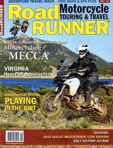 Road RUNNER Motorcycle & Touring Cover - 10/1/2016