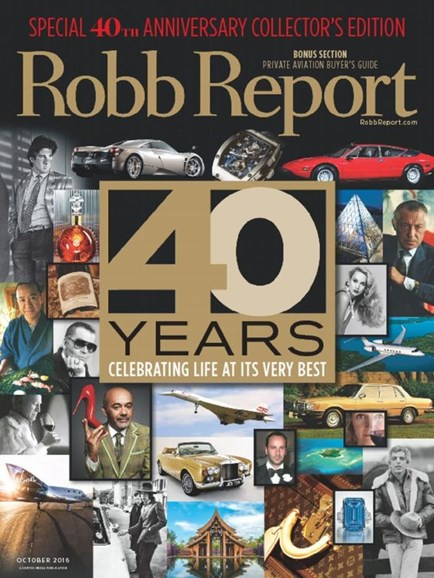 Robb Report Cover - 10/1/2016