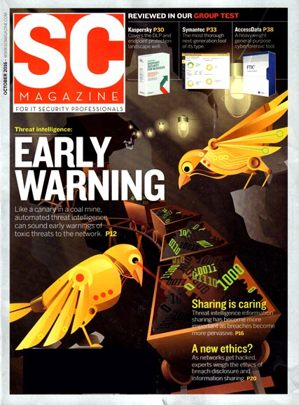 SC Magazine - U.S. edition Cover - 10/1/2016