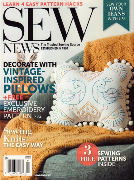 Sew News Cover - 10/1/2016