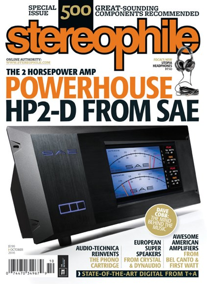 Stereophile Cover - 10/1/2016