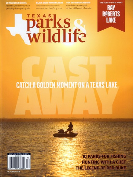 Texas Parks & Wildlife Cover - 10/1/2016