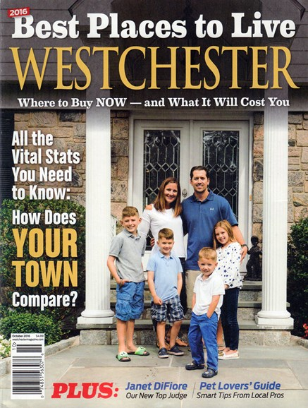 Westchester Magazine Cover - 10/1/2016