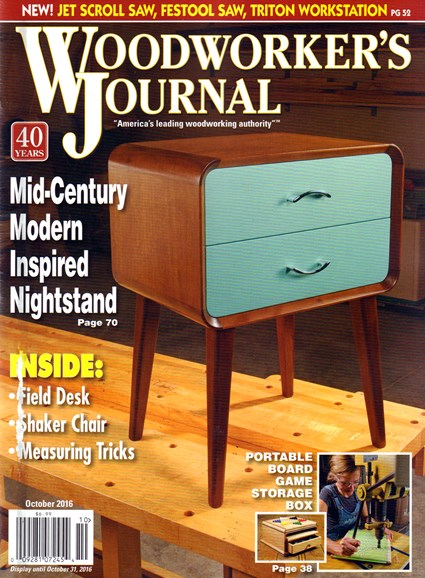 Woodworker's Journal Cover - 10/1/2016