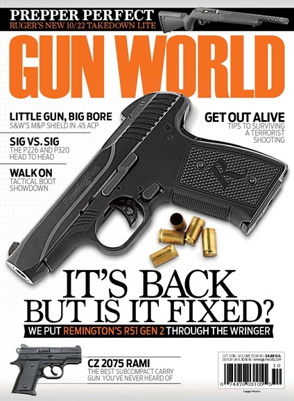 Gun World Cover - 10/1/2016